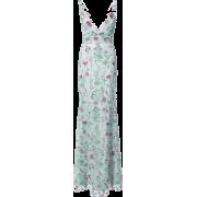 MARCHESA NOTTE long dress with floral de - Dresses - $28.00