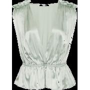 MARYSIA green satin blouse - Srajce - kratke -