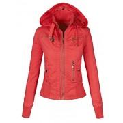 MBJ Womens Cozy Inner Fleece Hoodie Bomber Jacket - Outerwear - $39.90