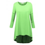 MBJ Womens Oversized High Low Tunic - Made in USA - Shirts - $19.29