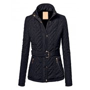 MBJ Womens Quilted Puffer Jacket with Inner Fleece - Outerwear - $39.90