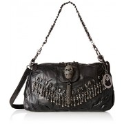 MG Collection Parkin Skull Studded Fringe Beads Lambskin Leather Purse - Accessories - $35.50