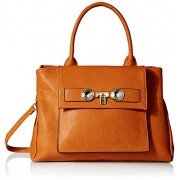 MG Collection Shea Structured Tote Top Handle Bag - Accessories - $32.50