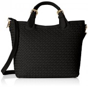 MG Collection Tatiana Designer Woven Tote Hang Bag Shoulder Bag - Accessories - $24.45