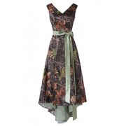 MILANO BRIDE Asymmetrical Camo Prom Dress Wedding Party Dress Double-Neck Sash - Dresses - $97.00