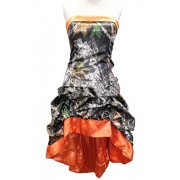 MILANO BRIDE Chic Camo Short Strapless Hi-Lo Cocktial Prom Wedding Party Dress - Dresses - $115.69