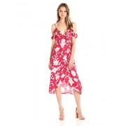 MINKPINK Women's Enchanted Rose Print Midi Wrap Dress - Dresses - $109.00