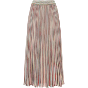 MISSONI Striped cotton-blend midi skirt - Skirts -