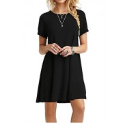 MOLERANI Women's Casual Plain Short Sleeve Simple T-Shirt Loose Dress - Accessories - $39.99