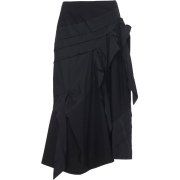 MOLLY GODDARD  asymmetric satin skirt - Skirts -