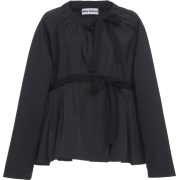 MOLLY GODDARD black poplin jacket - Jacket - coats -