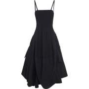 MOLLY GODDARD black satin dress - Dresses -