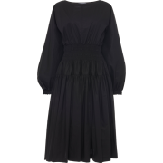 MOLLY GODDARD black smocked waist dress - Dresses -