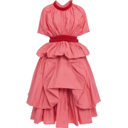 MOLLY GODDARD pink taffeta dress - Dresses -