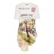 MONSE Asymmetric Printed Cotton Shirt - Shirts -