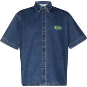 MSGM Fluo Embroidery Logo Shirt Bull Den - Shirts -