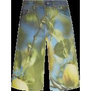 MSGM Photographic Print Denim Shorts - Shorts -