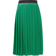 MSGM Polka-dot pleated midi skirt - スカート -