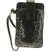 MUNDI Skinny Mini Metal Mesh Wristlet Black - Wallets - $9.99
