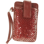 MUNDI Skinny Mini Metal Mesh Wristlet Red - Wallets - $9.99