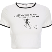 MY CLOTHES DOES NOT DETERMINE MY CONSENT - T-shirts - $19.99