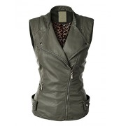 Made By Johnny MBJ Womens Faux Leather Moto Vest - Outerwear - $28.50