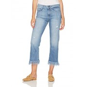 Madison Denim Women's Crosby Straight Leg Crop Jean with Long Fray Bondi - Flats - $79.95
