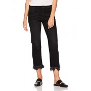 Madison Women's Crosby Straight Leg Crop Jean With Long Fray Bedrock - scarpe di baletto - $79.95  ~ 68.67€