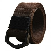 Maikun Canvas Belt Military Style Candy Color Waistband with Plastic Buckle and Leather Tip - Belt - $25.00