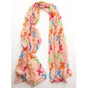 Maikun Fashion Scarf Colorful Cross Print Long Scarf - Scarf - $0.99