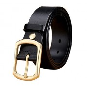 Maikun Mens Real Leather Superior Cowhide Brass Pin Buckle 1.5 - Belt - $89.00