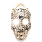 Maikun Scarf Ring Halloween Skull Brooch Decorated Rhinestone - Cachecol - $48.00  ~ 41.23€