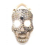 Maikun Scarf Ring Halloween Skull Brooch Decorated Rhinestone - Scarf - $48.00