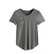 MakeMeChic Women's Short Sleeve Pocket T-Shirt Summer Tops Tee - Top - $9.99