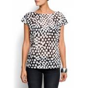 Mango Women's Grafic Printed Top Black - Top - $29.99