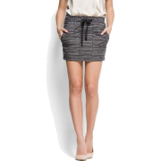 Mango Women's Metallic Yarn Skirt Grey - Skirts - $54.99