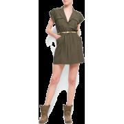 Mango Women's Sahara Dress Khaki - Dresses - $79.99