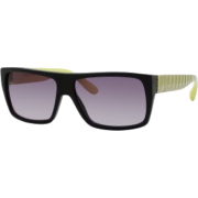 Marc by Marc Jacobs MMJ096/N/S Sunglasses - 0V0Q Black Green (EU Gray Gradient Lens) - 57mm - Sunglasses - $127.27