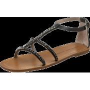 Marc by Marc Jacobs Women's Caprice 615182 Crystal Flat Sandal Black - Sandals - $116.99