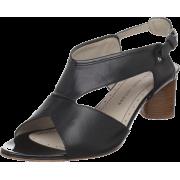 Marc by Marc Jacobs Women's Faro 615522 Mid-Heel Sandal Black - Sandals - $139.89