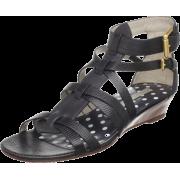 Marc by Marc Jacobs Women's Posillipo 615327 Printed Lizard Gladiator Sandal Black - Sandals - $139.89