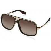 Marc Jacobs sunglasses (MARC-265-S 807/HA) Gold - Shiny Black - Brown grey black Gradient lenses - Eyewear - $182.36