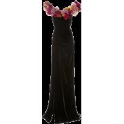 Marchesa Floral-Applique velvet gown - Dresses - $4,995.00