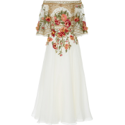 Marchesa Off-The Shoulder Embroidered Si - Dresses - $5,995.00