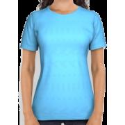 Maya Blue All Over Print Shirt - T-shirts - $34.99