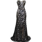 Meier Women's Strapless Beaded Black Lace Prom Formal Dress - Haljine - $79.99  ~ 508,14kn
