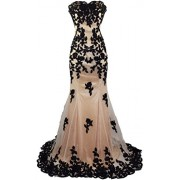 Meier Women's Strapless Lace Bead Formal Evening Gown - Dresses - $139.00