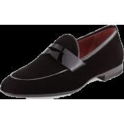 Men Black Velvet Party Penny Loafer Slip - Mocasines - $199.00  ~ 170.92€