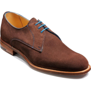 Men Brown Suede Leather Shoes with Laces - Klasyczne buty - $199.00  ~ 170.92€