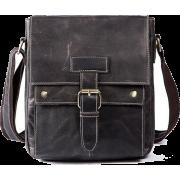 Men Genuine Leather Casual Solid Cross-b - Bolsas de tiro - $79.99  ~ 68.70€